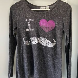 Cato Girls heathers gray long sleeve